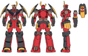Gurren Lagann Model Sheet by BABAGANOOSH99