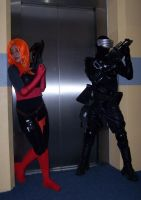 Scarlett and SnakeEyes Cosplay by SoundwaveLover