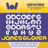 James Glover Font by weknow by weknow