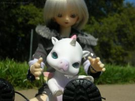 A Boy and His...Robot Unicorn. by SilverSugar