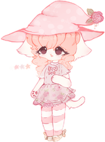 {closed} Pastel Kitty Witch by VioletCascade
