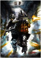 Battlefield 3 Watercolor by RV5T3M