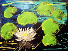 Abstraction of Water Lilies by greenejc