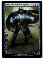 Jace, the Mind Sculptor Full art painted MtG Alter by iplaythisgame