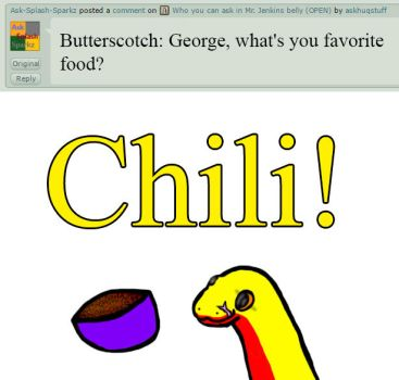 George: Favorite food by askhuqstuff