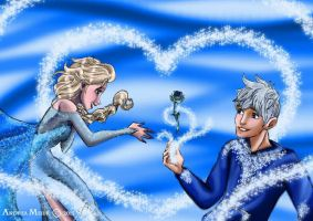 Happy Valentine (Elsa and Jack) by MissMikopete
