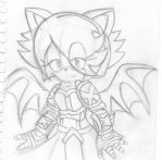 Sketch of my AQWorlds Character as a bat by CallMeSony