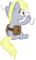 Derpy fiddling with a wire by moemneop