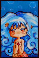 ACEO Sea Maiden by RaelXArts