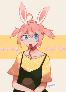 Happy Easter by hyomoww