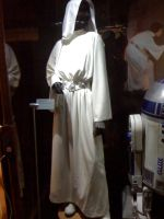 Star Wars the Exhibition - Leia's white dress by Jazzlednightmare16