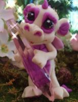 polymer clay dragon pearl by crazylittlecritters