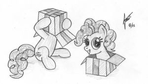 Calendar sketch 19: Pinkie Pie by Snetri