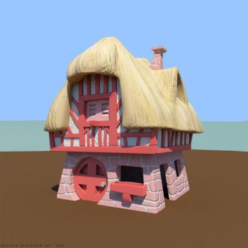 White rabbit's house 3D by hoschie