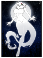 Ghost gal creature_colored with BG by wsache007