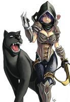Demon hunter w Panther Final by ParSujera