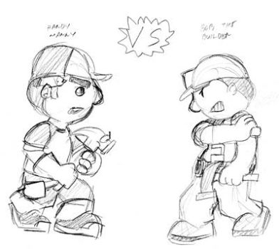 Manny vs Bob sketch by Inspectornills