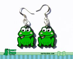 Froggy Earrings by brandimillerart