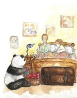 HP - good morning apple panda by LevyRasputin