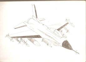 Aircraft Drawing _____ F-16 by GHOSTASSAULT18