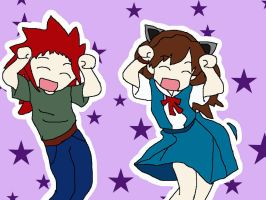 Me and axel CARAMEL DANCEN by Brixyfire