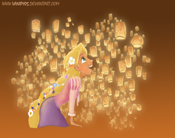 Tangled: the lanterns by vanipy05