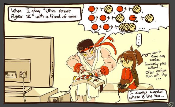 When i play video game with a friend... by mayumi-yue