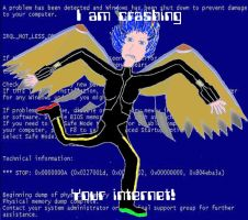 I am crashing your internet! by Roos-Skywalker