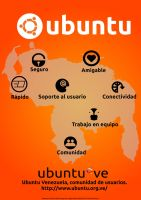 Ubuntu-ve Poster naranja by avaldive
