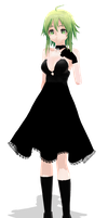 Black dress gumi [close DL] by jangsoyoung