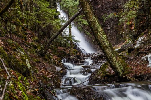 Mosher Hill Falls - Farmington, Maine 01 by Riot207Photography