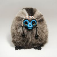 Monkey Spirit Furry Creature by RamalamaCreatures