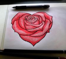 V-Day Rose Heart by Redizon