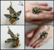 Ring from set Seasons. Autumn. Set by JSjewelry