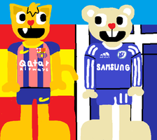 FC Barcelona and Chelsea FC by HTFBlueFan2012