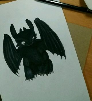 Toothless (How to train your dragon) by xreiyyu