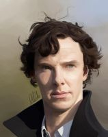 Benedict Cumberbatch as Sherlock Holmes by clarkey-lou