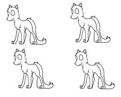 Fox Adopts Lineart by AgenderedKing