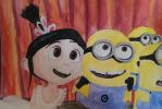 Minions and Agnes by emilyada11
