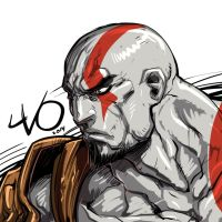 Digital Sketch Warm up 41 - Kratos by Vostalgic
