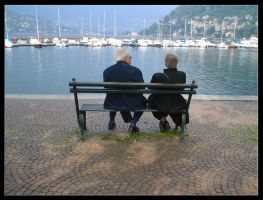 Strangers on a Bench I by Anere