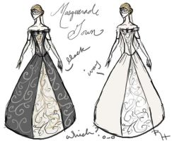 Masquerade Gown Designs by Reine-Haru