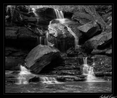 Somersby Falls BW by robertvine