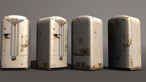 Retro rusty refridgerator by ShangyneX