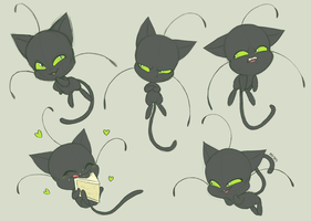 Plagg Expression Doodles by mirzers