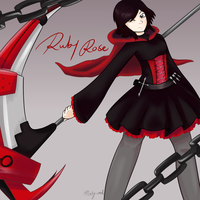 Ruby Rose (RWBY anime) by minty-red