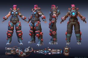 Zarya Master skin. Heroes of the Storm. by FirstKeeper