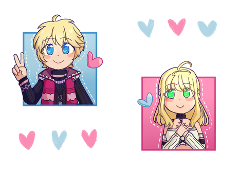 shulk and fiora (on redbubble !) by NintenDash