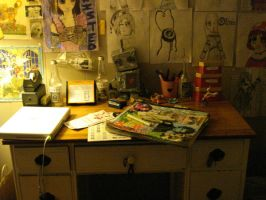 The Desk from HELL by Ms-sgt-pepper