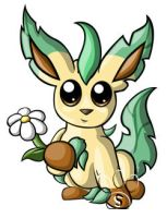 Leafeon Chibi by RedPawDesigns